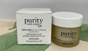 Philosophy Purity Made Simple Hydra-Bounce Eye Gel 1 oz / 30 ml New With Box