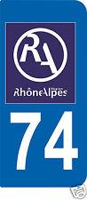 1 Sticker plaque AUTO adhésif département 74