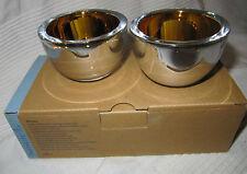 Neu! PartyLite Teelichthalter Gold, Paar P91592 + PartyLite Teelicht Gratis