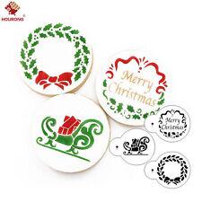 3pcs/set Merry Christmas Celebration Cookie Cutters Stencil Cookie Cutters Decor