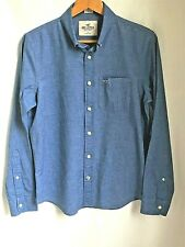 Hollister Men's Stretch Cotton Shirt. Blue Size Small. Excellent Condition.