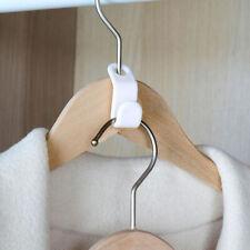 6pcs Wardrobe Space-saving Stack Hanger Hooks Coat Hook Plastic Closet HangeDOFA