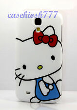 for Samsung galaxy S4 hello kitty phone  case cover white blue red bow S IV