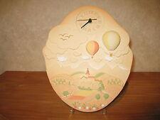 LAFOND CREATIONS *NEW* Horloge en grès décoré Les Mongolfières