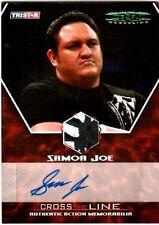 TNA Samoa Joe 2008 CTL Autograph Memorabilia Card 2/5