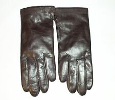 WOMAN GENUINE LEATHER BROWN VINTAGE GLOVES FOWNES SIZE 6.5