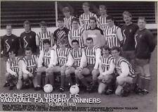 COLCHESTER UNITED FOOTBALL TEAM PHOTO>1991-92 SEASON