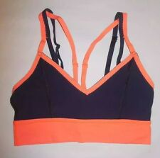LULULEMON FLIP YOUR DOG BRA LIGHT FLARE INKWELL YOGA PILATES RUNNING EUC sz 6