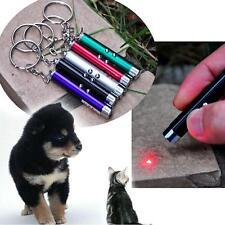 Hot Pointeur Laser Stylo Lumineux Porte Clé Chien Chat LED Jouet Nouveau