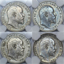 More details for 1902 matt proof maundy set (ngc pf61-63) - edward vii british silver coins