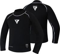 RDX Men's MMA Rash Guard Full Sleeve Sweat Shirt Compression BJJ Black US