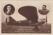 CPA PILOTES COSTES ET BELLONTE et leur avion Breguet XIX Point d'interrogation