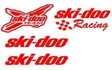 4 RED ski doo decal sticker rev xp mxz renegade summit gsx mach decals skidoo
