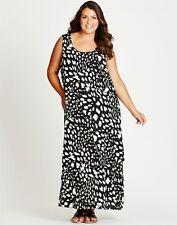 Autograph Plus Size 16 Black White Green Layer Maxi Dress Fits Plus Size 20 NWOT