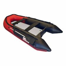 10.5 Ft 4 Persons Youth Pool Lake Inflatable Raft Row Fishing Boat Air Deck Red