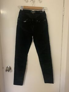 Lucky Brand 'Sofia Skinny' Black Cord Pants Size 27