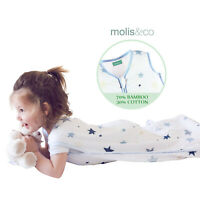 Bamboo Cotton Muslin Baby Kids Sleep Sack Summer Wearable Blanket Sleeping Bag