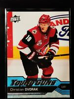 CHRISTIAN DVORAK YOUNG GUNS - 16/17 UD SERIES 1 RC SP ROOKIE #235