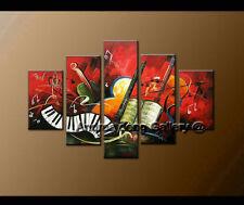 Framed Handmade 5 Pieces Modern Abstract musical oil painting ART Wall Art A1395