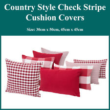 Red Buffalo Check Country Cushion Covers Stripes Gingham Throw Pillow Case Decor