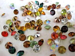 Glitzer oder Perlen 4-teiliges Set Mini-Bastelflaschen 8 St/ück verschiedene Schmucksteine