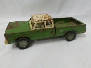 Vintage Green Nylint Pressed Steel Extended Cab Farm Truck Pick Up
