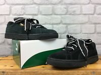 PUMA LADIES UK 7 EU 40.5 BLACK BASKET HEART SUEDE RIBBON LACE TRAINERS RRP £75