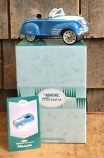 Vintage Nib Hallmark Kiddie Car Classics 1941 Blue Steel Craft Oldsmobile Gift