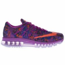 Nike Women's Air Max 2016 Print Low Top Running Sports Casual Purple Trainers