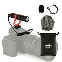 Video Mic Microphone Foam Cover & Windshield for Nikon/Canon DSLR Camera Audio