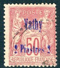 VATHY - 1893 2pi su 50c ROSE SG 88 BELLE USATO V17240