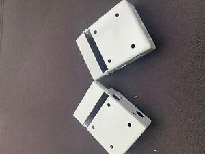 Pair White Venetian blind box brackets - 58 x 50mm Headrail