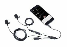Lavalier Interview Microphone - Secondary Lapel Clip On Mic for Smartphones