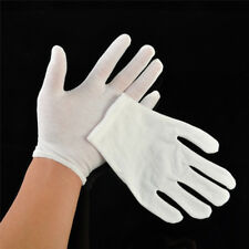 White Coin Jewelry Silver Inspection Cotton Lisle Gloves Personal Protective