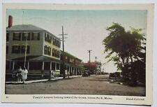 1941 Ocean Park, Maine  Postcard - Temple Ave looking toward Ocean - vintage