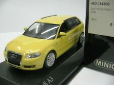 WOW EXTREMELY RARE Audi A3 8PA 5 Drs 3.2 VR6 Quattro Yellow 2004 1:43 Minichamps