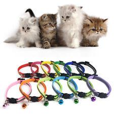 1PC reflectante collar del gato con campana de nylon hebilla de seguridad de cabeza Cat Lindo Mascota Collar