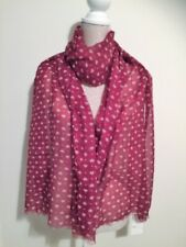 Heart Scarf Red Small Hearts Print Design Scarfs Scarves Gift Clearance Sale