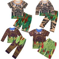 Child Maui Sleepwear+Pants Outfits Kids Baby Boys Pajama Pyjama Homewear Costume