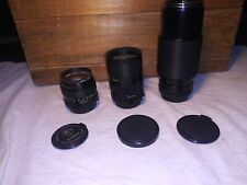 Vintage CANON Camera Lenses FD 50mm 1:1.4 - FD 35-70mm 1:4 FD 70-210mm 1:4 Japan