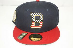 NEW ERA Boston Red Sox Stars and Stripes 4th of July On-Field 59FIFTY Hat 7 3/8