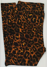 OS LuLaRoe One Size Leggings Cheetah Leopard Animal Black Brown NWT 724