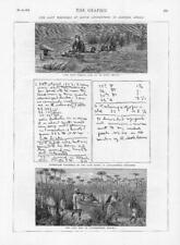 1874-antica stampa AFRICA David Livingstone Stream Viaggi nota-book (134)