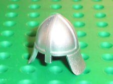 Casque LEGO castle minifig MetallicSilver helmet  Ref 3844 / Set 7094 7029 7946