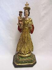 MADONNA MIT KIND - Heilige Maria mit Jesus Kind - BÖHMEN um 1820 - 55cm