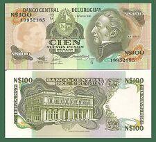 Uruguay P62A, 1000 Pesos Jose' Artigas / Estevez Palace, 1987, Uncirculated