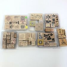 stampin up stamp sets Lot Of 56 Rubber Stamps