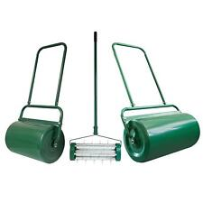 More details for outdoor garden std & lrg heavy duty lawn grass roller aerator seed sand filled
