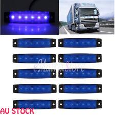 10 x 6 LED Side Marker Blue Clearance Trailer Lights Lamp Indicator Truck 12V