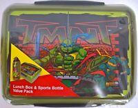 ~ TMNT Ninja Turtles - LUNCH BOX & DRINK BOTTLE SISTEMA GENUINE QUALITY school